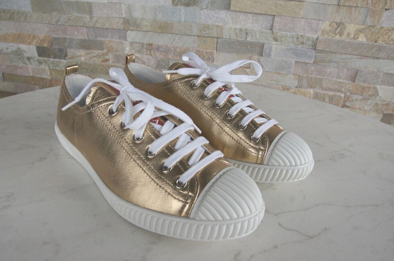 best sneakers 1e269 f99f4 ... PRADA TAGLIA TAGLIA TAGLIA 39 SNEAKERS normalissime scarpe 3e5876 Pelle  Agnello PLATINO NUOVO UVP 1177b5 ...