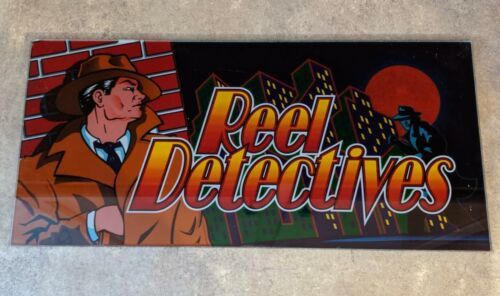 """X-12 IGT /""""Reel Detectives/"""" Slot Machine Glass Piece FAST FREE SHIP!"""