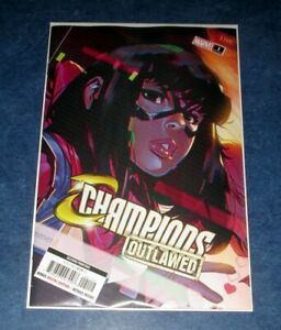 CHAMPIONS-OUTLAWED-1-2nd-print-Toni-Infante-Kamala-Khan-Variant-MARVEL-2020-NM