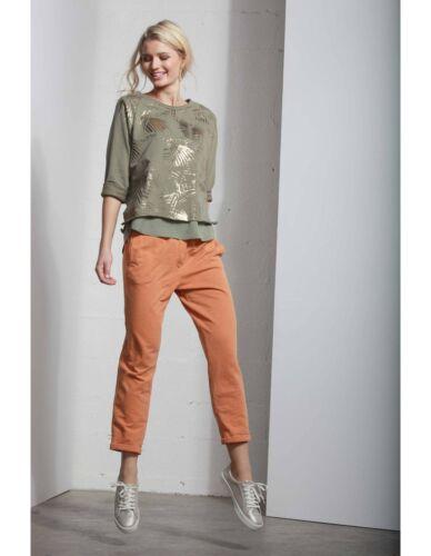 Da Donna In Elasticizzato Felpa Deha Moda Arancione Pantalone Casual Morbido 1wPqH4xtAW
