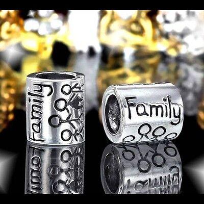 MATERIA 925 Silber Beads Family Familie antik für European Beads Armband 7x8mm