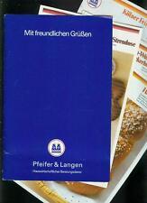 Alte Sammelmappe Kölner Zucker Rezepte Pfeifer & Langen Fotos 1970er Typen