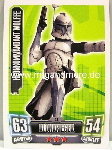 Force Attax Serie 2 Klonkommandant Wolffe #034