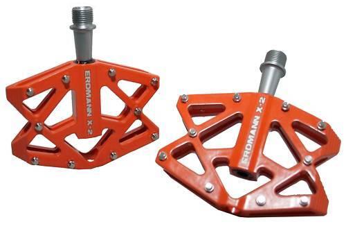 Erdmann Erdmann Erdmann X-2 Pedale 308 Gramm (pro Paar) in Orange 3a165d