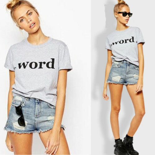 Women Loose Short Sleeve Cotton Casual Blouse Shirt Tops Fashion Summer T Shirt by Unbranded