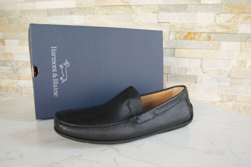 Nuovo 41 Uvp299 Harmont € Black Mocassini Gr Blaine 5 Oxfords Scarpe Slipper pvnAFvz