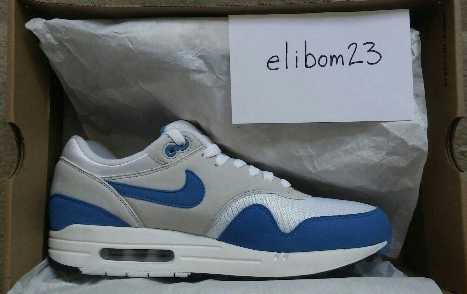 DS 2009 Nike Air Max 1 QS Varsity bluee 378830 141 Sz 9.5 Supreme Parra Patta