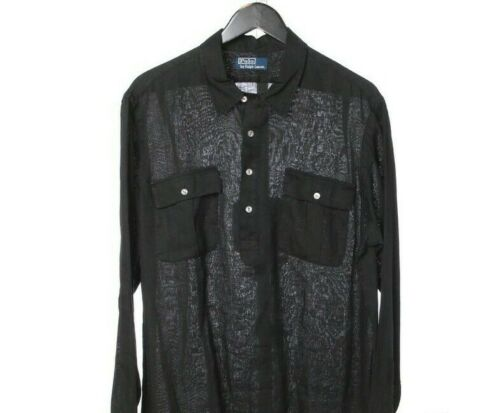 Polo Ralph Lauren Black Summer Cloth Linen Feel 2