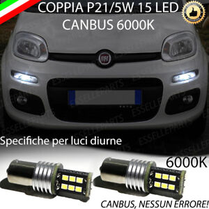 Coppia luci diurne drl 15 led p21w bay15d canbus fiat for Luci diurne a led