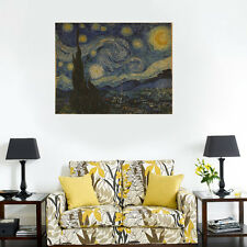 Wall Paper Poster Decor The Starry Night Van Gogh Art Print Picture Wall Sticker