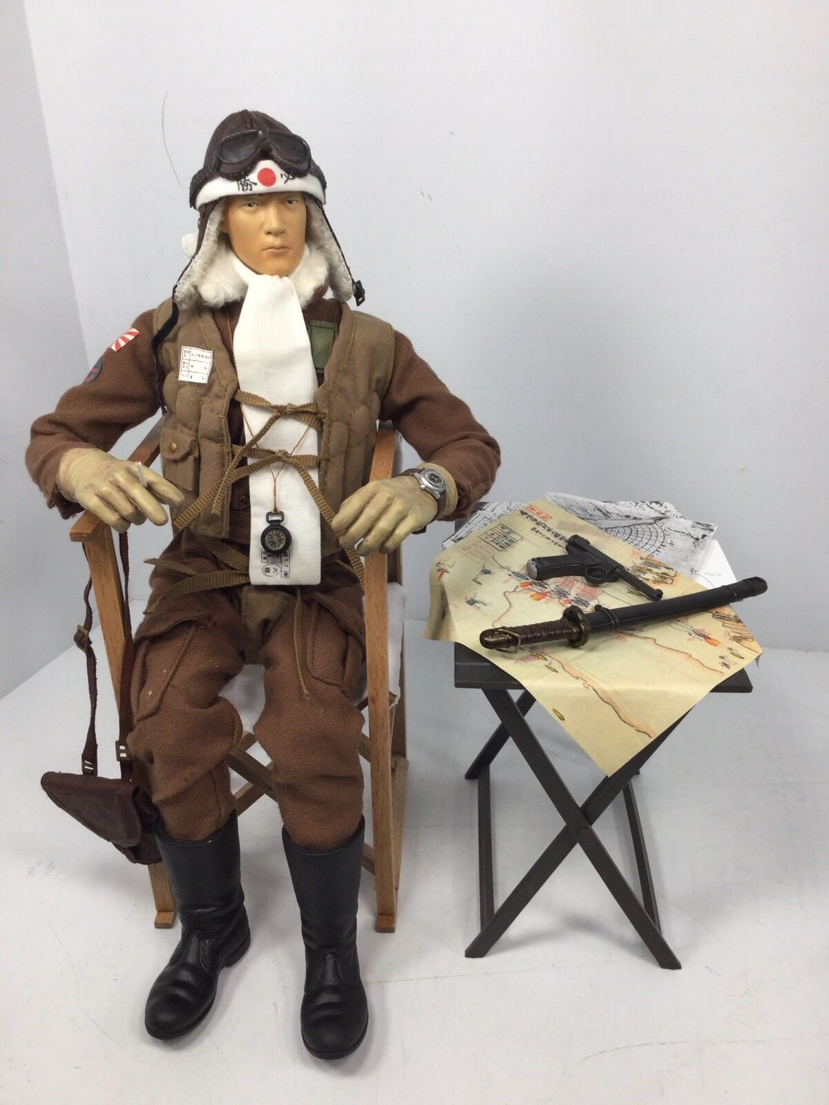 1 6 Bbi Imperial Japanese Navy cero piloto silla y mesa DRAGON DID Segunda Guerra Mundial RC