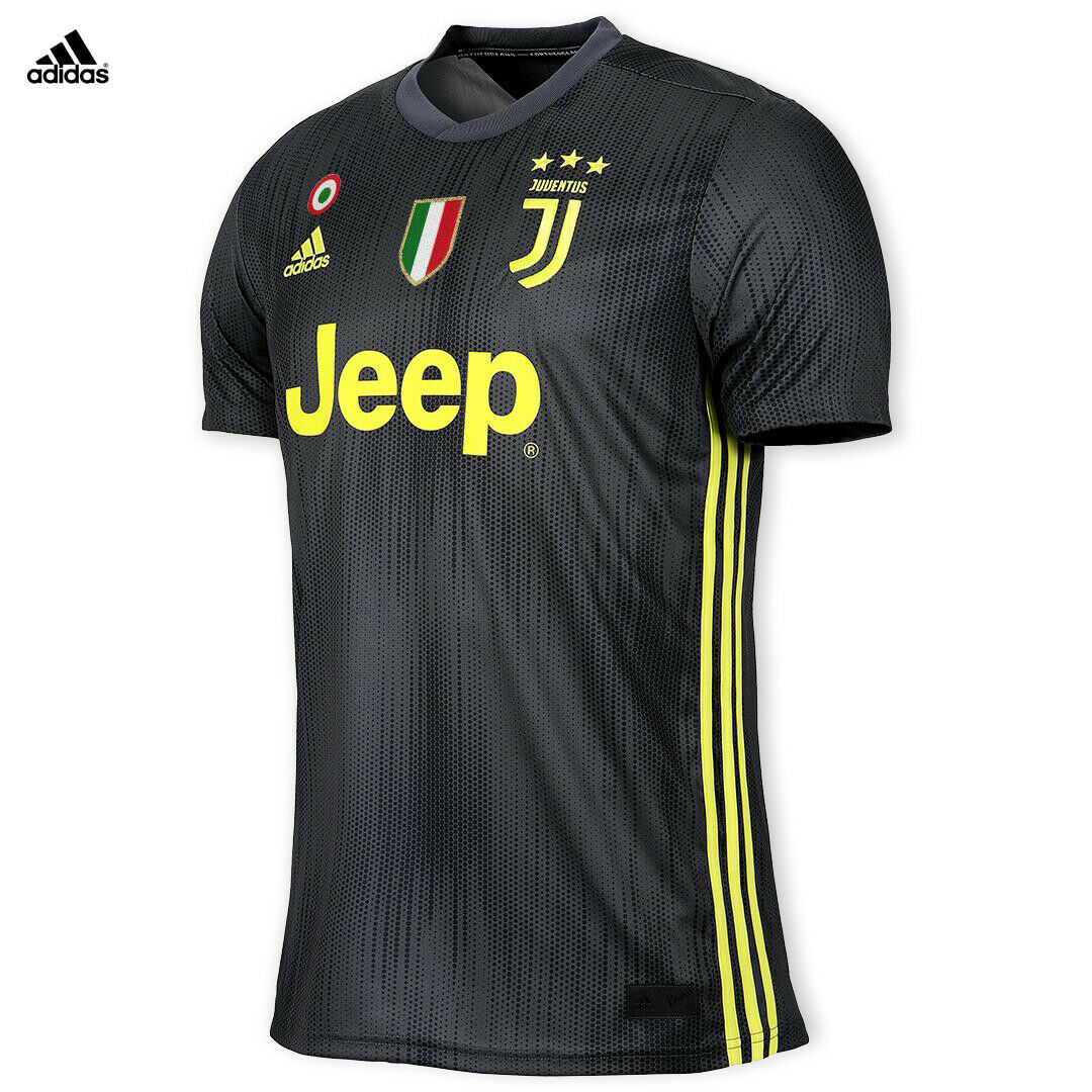 Juventus Maglia RONALDO CR7 Gara THIRD 2018 19 Patch Scudetto Coppa Italia hombres