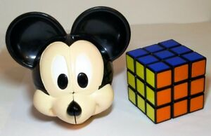 DéVoué Extrêmement Rare Mickey Mouse Rubik's Cube Disney Rubix 2x2 2x2x2-afficher Le Titre D'origine