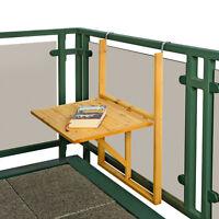 Holz Balkontisch Klapptisch Hängetisch Gartentisch Wandtisch Klappbar Tisch Balk