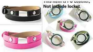 1pcs mixed PU Leather Bracelet Wristbands Fits For Floating Memory living Locket