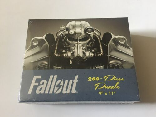 "Bethesda Fallout 200 Piece Puzzle Jigsaw 9"" X 11"" Bethesda USAopoly T-60 Armor"