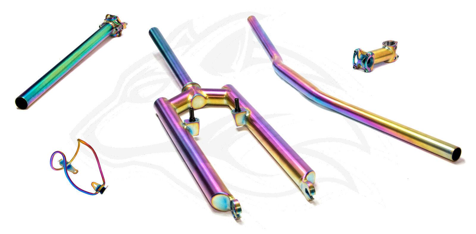 Titangruppe Titangabel Titan Gabel Lenker Vorbau bunt rainbow yo yo yo eddy retro klei 4d22cb