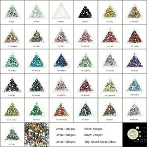 1000-Choose-Colour-Crystal-Flat-Back-Nail-Art-Face-Festival-Rhinestones-Gems