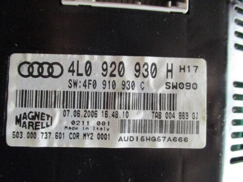 Kombiinstrument FIS Tacho FARBDISPLAY Diesel Audi Q7 4L 3.0TDI V6 4L0920930H