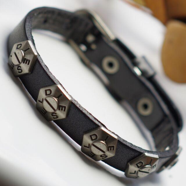 ab8642f5b6d72 Diesel Mens Belt Leather Bracelet