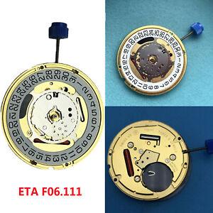 ETA-F06-111-Movimiento-de-Cuarzo-Fecha-en-3-039-6-039-Reloj-Parte-Bateria-371-amp-Stem