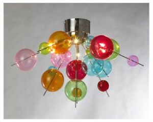 Details About Vina Funky Multicolour Ball Ceiling Light 6 Bulb Modern Lighting
