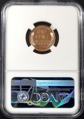 1957 Proof Lincoln Cent certified PF 67 RD by NGC!