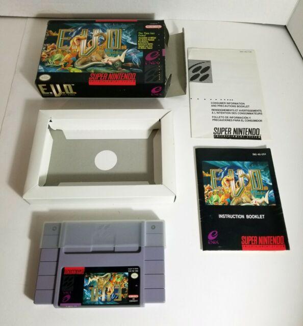 E.V.O. The Search for Eden (Super Nintendo SNES,1993) COMPLETE NEAR MINT EVO USA