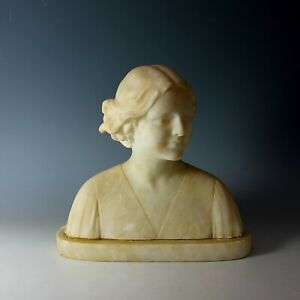 Alabaster-Sculpture-of-a-Young-Girl-by-Umberto-Stiaccini-Florence