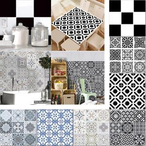 10pcs Stick On Tile Transfer Stickers Moroccan Mosaic Kitchen Bathroom Tiles Diy Ebay