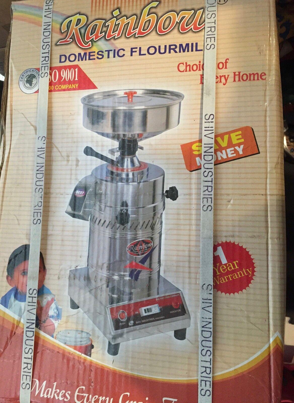 Domestic Flour Mill, Gharelu Atta chukka make your own multi grain flour RAINBOW