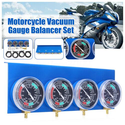 4x Motorcycle Carburetor Carb Vacuum Gauge Balancer Synchronizer Diagnostic Tool