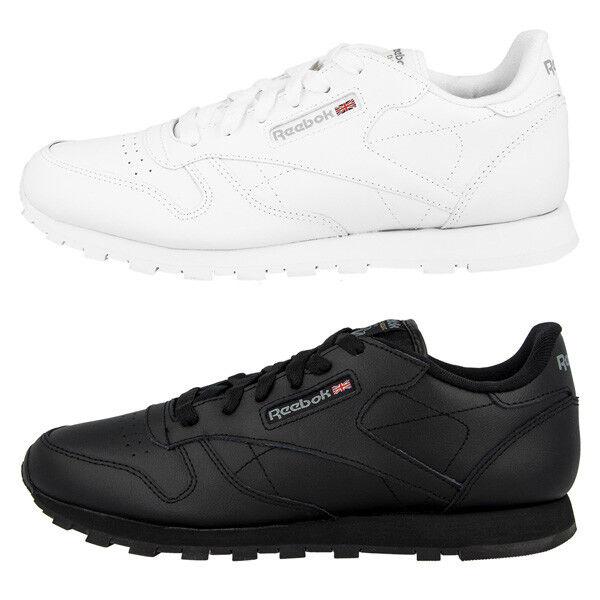 Reebok Classic Leather Leather Leather GS Zapatos Cuero cortos señora clásico ocio Sport  autorización