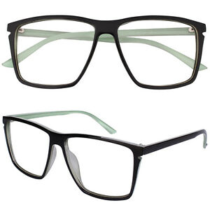 4ed40f5c0731 Retro Nerd Fashion Clear Lens Glasses Big Frame Eyewear Eyeglasses ...