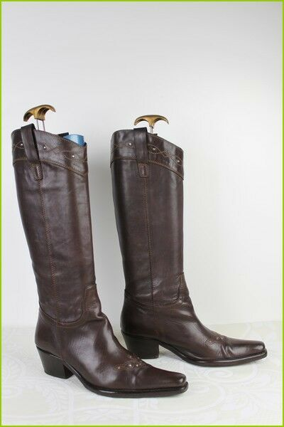 Brown boots all leather riveted flexible rod t 39 tbe