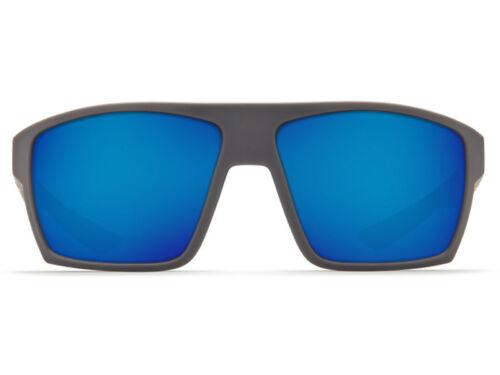 NEW Costa Del Mar BLOKE Matte Gray /& Black 580 Blue Mirror Glass 580G