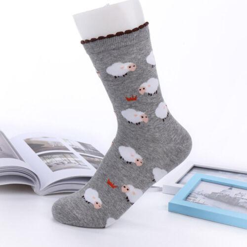 1 Pair Cartoon Sheep Design Women Cotton Socks Winter Autumn Warm Casual Socks P