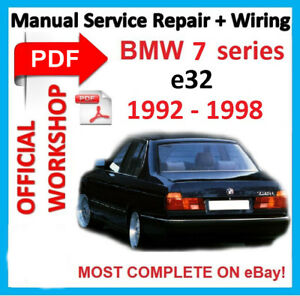 details about # official workshop manual service repair for bmw 7 series e32  1986-1994