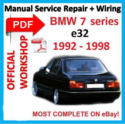 Official Workshop Manual Service Repair For Bmw 7 Series E32 1986 1994 Ebay