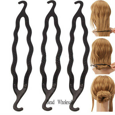 New Fashion 3Pcs Hair Twist Styling Clip Tool Hair Accessories