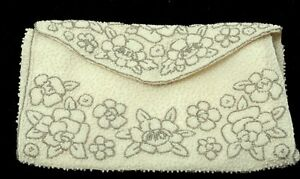 Beaded Paris Floral Vintage Cream Clutch Cerny By n8wO0kP