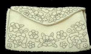Floral By Paris Cream Beaded Clutch Cerny Vintage vy0mN8wOn