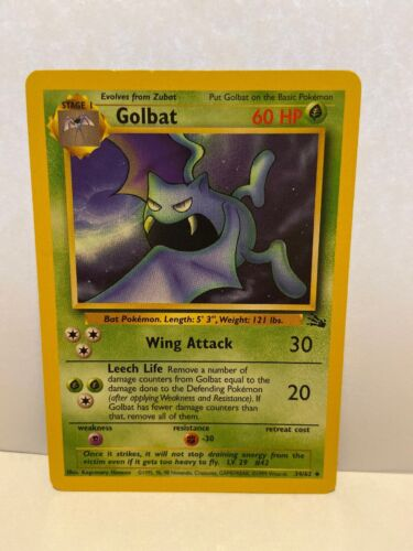 34//62 Golbat Pokemon Card From Fossil Set Common Card