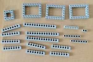 Lego-NEUF-19-Technic-Bricks-Gris-clair-1x6-1x8-1x14-etc-Space-Star-Wars