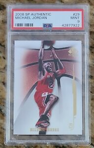 HOF-Michael-Jordan-2008-SP-Authentic-29-PSA-9-MINT-Chicago-Bulls