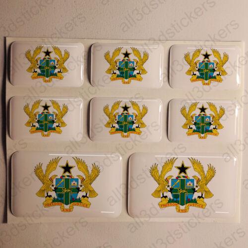 Sticker Ghana Resin Domed Stickers Ghana Coat of Arms 3D Vinyl Adhesive Car Moto