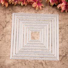 Metal Cutting Dies Handmade Card Scrapbooking Square Frame Die Cutter Set DC001