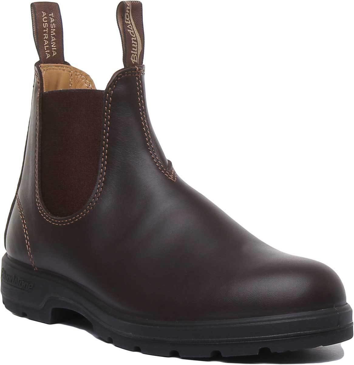 Blaundstone 550 Unisex Leather Matt Chelsea Stiefel in Brau EU Large 35 - 41