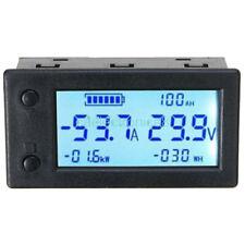 Coulombmeter Voltmeter Amperemeter Dc300v 50a Digital Wattmeter Power Withshunt C