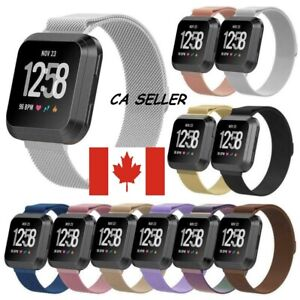 Magnetic-magnet-Stainless-Steel-Watch-Wrist-Band-Strap-ForFitbit-Versa-1-2-Lite